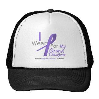 Hodgkin's Lymphoma Violet Ribbon Granddaughter Trucker Hat