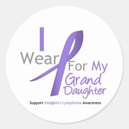 Hodgkin's Lymphoma Violet Ribbon Granddaughter Stickers