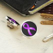 Hodgkins Lymphoma Violet Ribbon Pin