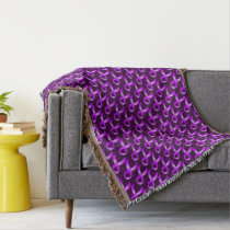 Hodgkins Lymphoma Violet Ribbon Throw Blanket
