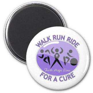 Hodgkin's Lymphoma Walk Run Ride For A Cure Refrigerator Magnet