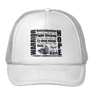 Hodgkins Lymphoma Warrior Fight Slogans Hat