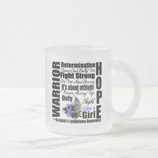 Hodgkins Lymphoma Warrior Fight Slogans Coffee Mugs