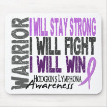 Hodgkins Lymphoma Warrior Mouse Pad