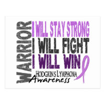 Hodgkins Lymphoma Warrior Postcard