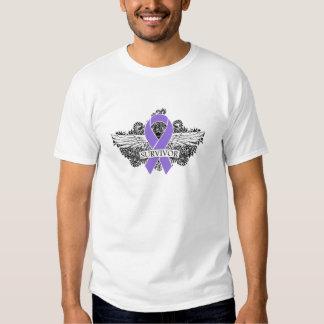 Hodgkins Lymphoma Winged SURVIVOR Ribbon T Shirt