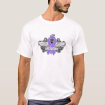 Hodgkins Lymphoma Winged SURVIVOR Ribbon T-Shirt