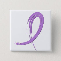 Hodgkin's Lymphoma's Violet Ribbon A4 Button