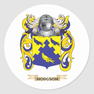 Hodgson Coat of Arms (Family Crest) Round Stickers
