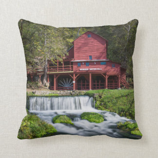 Hodgson Water Mill Landscape Throw Pillow