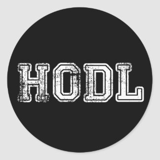 Hodl Cryptocurrency Print Stickers