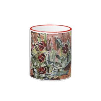 Hodler: Pansies, Art Ringer Mug