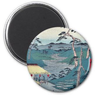 Hodogaya  by Ando, Hiroshige Ukiyoe Fridge Magnet