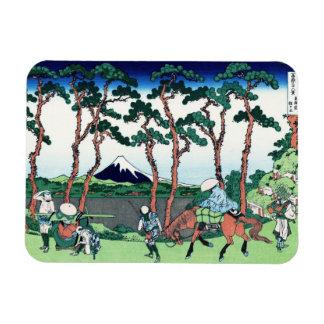 Hodogaya en el Tokaido Katsushika Hokusai Imán Foto Rectangular
