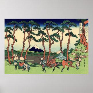 Hodogaya en el Tōkaidō Póster