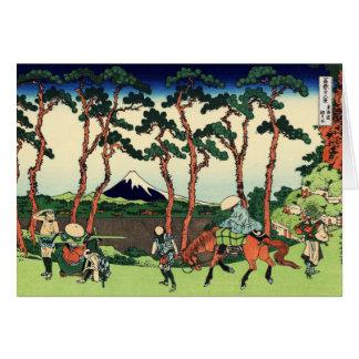 Hodogaya en el Tokaido Tarjeta De Felicitación