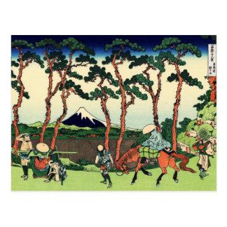 Hodogaya en el Tokaido Tarjetas Postales