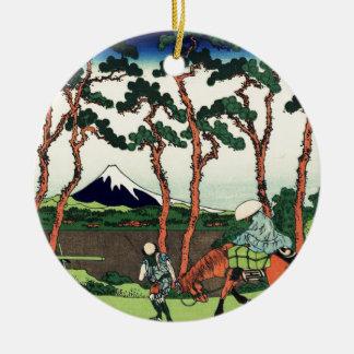Hodogaya on the Tokaido Ceramic Ornament