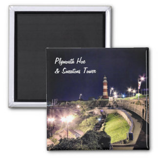 Hoe Approach and Smeaton's Tower 2 Inch Square Magnet