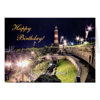 Hoe Approach and Smeaton's Tower - Happy Birthday Card