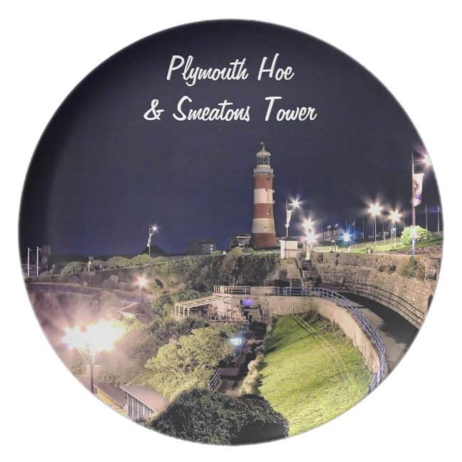 Hoe Approach and Smeaton's Tower Plate