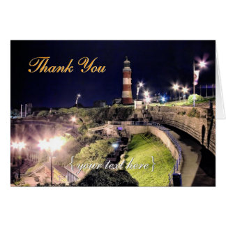 Hoe Approach and Smeaton's Tower - Thank You Card
