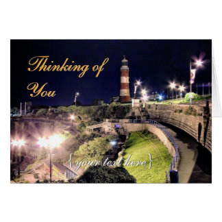 Hoe Approach and Smeaton's Tower - Thinking of You Card