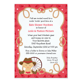 Hoedown Couples Baby Shower Invitation