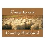 ¡Hoedown del país! invitación Invitación 12,7 X 17,8 Cm
