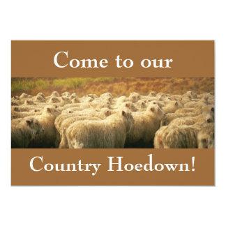 ¡Hoedown del país! invitación