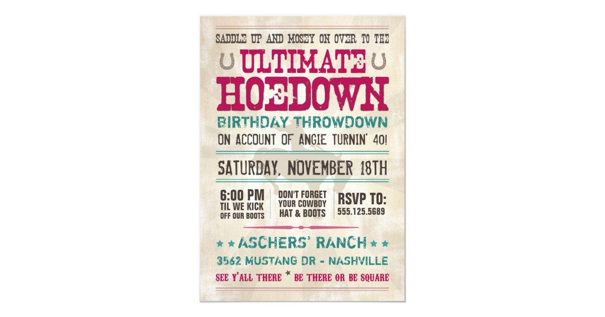 Hoedown Invitation | Zazzle.com