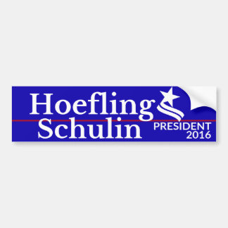 Hoefling / Schulin for President & Vice President Bumper Sticker
