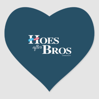 Hoes after Bros -- Anti Hillary Heart Sticker