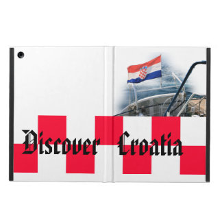 hoesje with Croatian flag on boat iPad Air Case