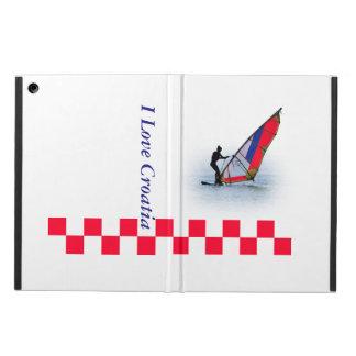 hoesje with windsurfing girl, I love Croatia Case For iPad Air