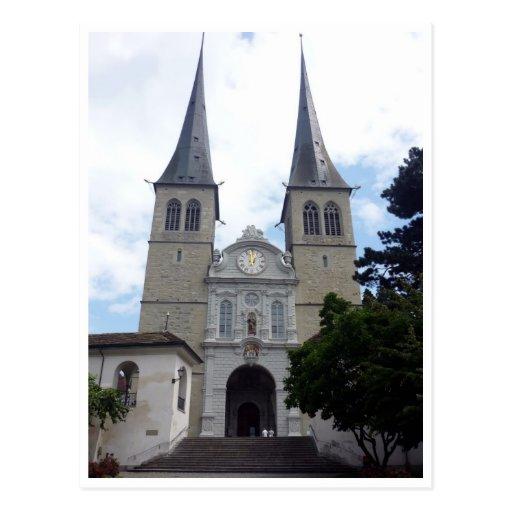 hof church postcard