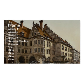 Hofbrauhaus, Munich, Bavaria, Germany classic Phot Business Card Templates