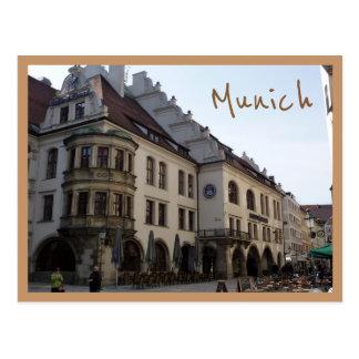 Hofbräuhaus (Munich) with text Postcard
