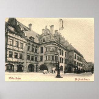 Hofbrauhaus, vintage 1900 de Munich, Alemania Posters