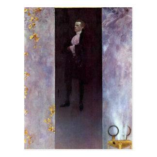 Hofburg actor Josef Lewinsky as Carlos by Klimt Postcard