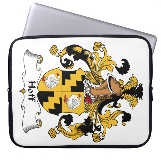 Hoff Family Crest Computer Sleeve