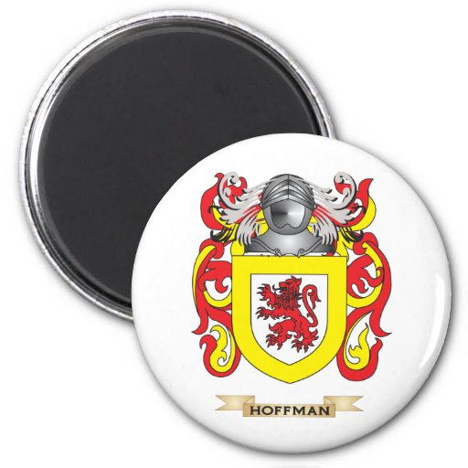 Hoffman Coat of Arms (Family Crest) Fridge Magnet