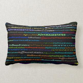 Hoffman Estates Text Design I Lumbar Pillow