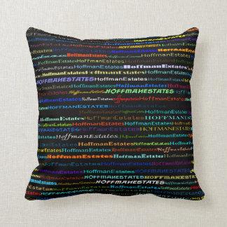 Hoffman Estates Text Design I Throw Pillow