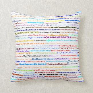 Hoffman Estates Text Design II Throw Pillow