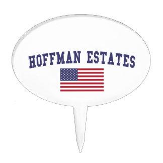 Hoffman Estates US Flag Cake Topper