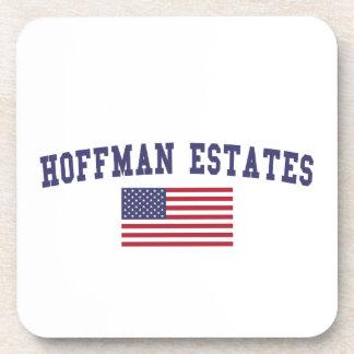 Hoffman Estates US Flag Coaster