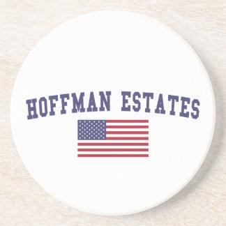 Hoffman Estates US Flag Drink Coaster