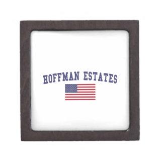 Hoffman Estates US Flag Jewelry Box