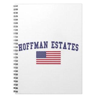 Hoffman Estates US Flag Spiral Notebook